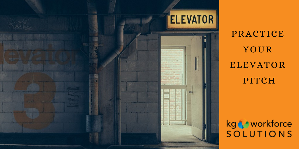 Develop an elevator pitch for use during job interviews