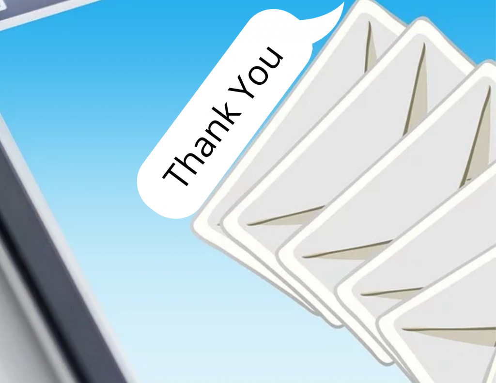 Sending a well crafted thank you message can set you apart from other candidates!